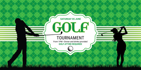 Template for golf invitation