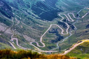 Winding road in the mountains