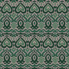 Ikat Ornament Ethnic Vector Seamless Pattern