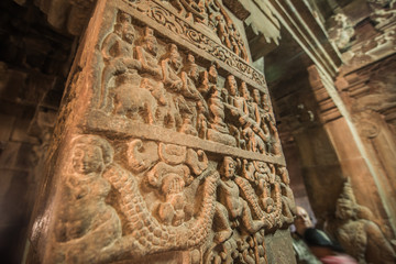 architecture details of an old indian temple