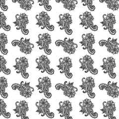 Seamless pattern on white background