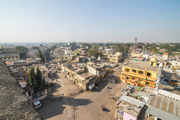 Top view of a poor area of indian city