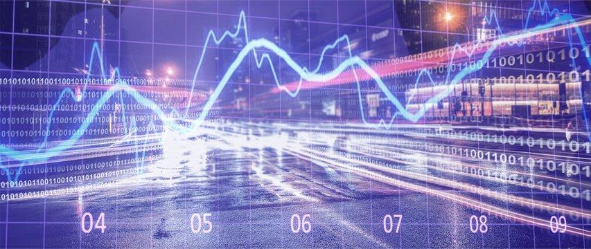 Financial market stock trade exchange finance analysis