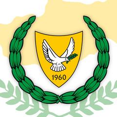 Cyprus republic coat of arms, vector illustration