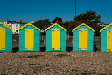 Beach Huts, Littlehampton,West Sussex, Uk,
