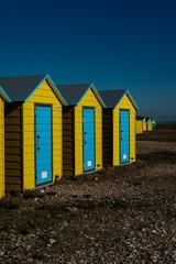 Beach Huts, Littlehampton,West Sussex, Uk,