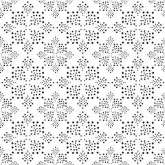 Star flower seamless pattern