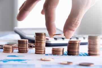 finanza, monete, dito, economia, affari, guadagni,