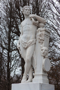 Vienna - statue in park of castle Schonbrunn