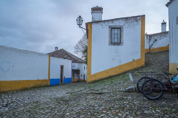 Alleys in the old town, in Obidos