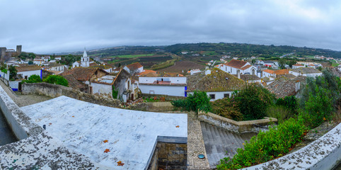 Panoramic view of Obidos