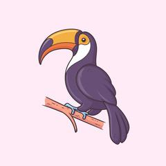 Toucan bird vector iillustration