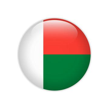 Madagascar flag on button