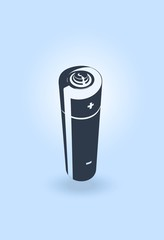 a small rechargeable battery.vector image