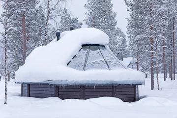 Finnenhaus im Schnee