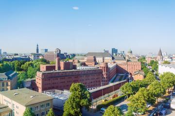 HAMBURG, GERMANY - JULY 24, 2018 : Antique building view in Hamburg, Germany.
