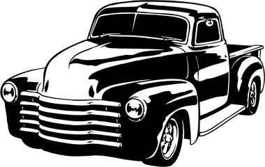 1949 Chevy Pickup Vector Illustration Wall mural