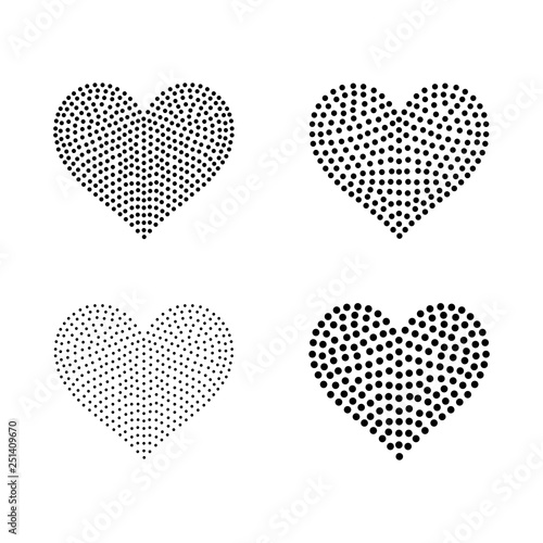 Blackline for Rhinestones or Studs in a Heart shape 5 inches