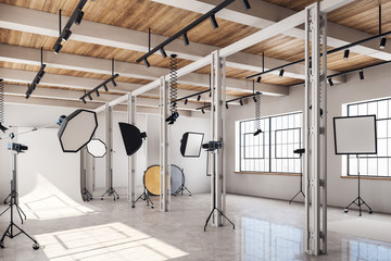 Clean photo studio