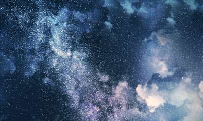 Cloudy night sky background Wall mural