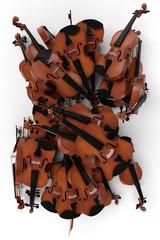 Violin pile