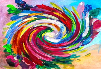 The best floral twisting background for your design. Floral background abstraction. Beautiful bright background - illustration. abstract background & texture