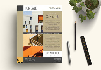 Bronze Real Estate For Sale Flyer Layout