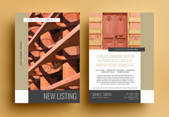 Bronze Real Estate New Listing Postcard Layout