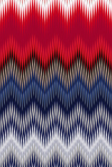 Chevron zigzag wave pattern abstract art background Color USA flag