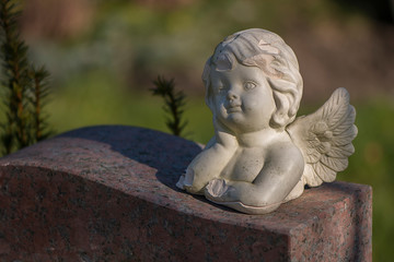 Friedhof, Statuen, Engel