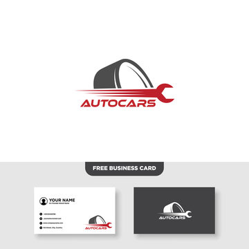 Automotive Logo, Free Business Card - Vector