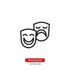 Theater mask icon vector