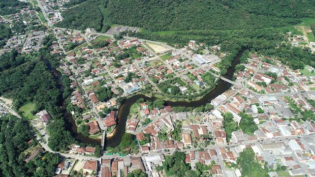 Vista Area em Morretes - Paraná - Brasil