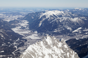 Zugspitze, Germany, mountain, snow, peak, winter