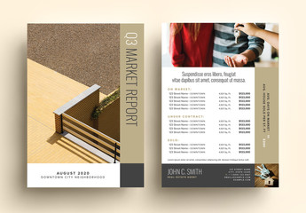 Bronze Real Estate Market Update Postcard Layout