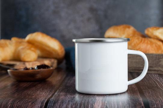 breakfast table mug mockup scene