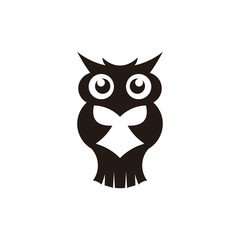 Wisdom concept, owl with books in graduation cap inspiration logo