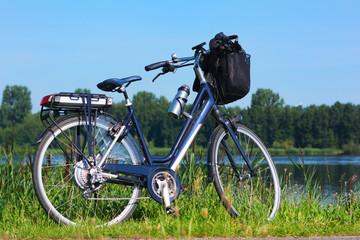 E-bike in nature landscape