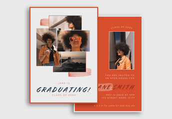 Bold Graduation Announcement Postcard Set