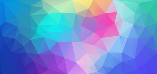Flat triangle background. Horizontal multicolor Vector for your design