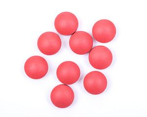 Natural stimulant laxative and stool softener. Sennosides & Docusate sodium film coated tablets isolated on white background.