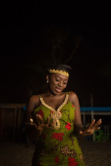 Gorgeous Africa woman dancing