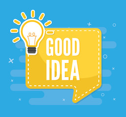 Idea flat vector. vector illustration concept image icon