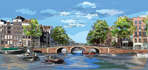 Colorful vector hand drawing Holland 10