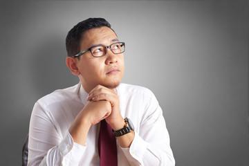 Businessman Wondering Something, Thinking Gesture
