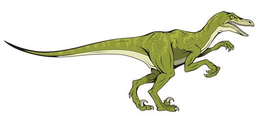 velociraptor hand drawn dinosaur , vector graphic to design