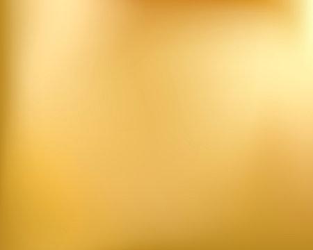 Golden background. Abstract light gold metal gradient. Vector blurred illustration