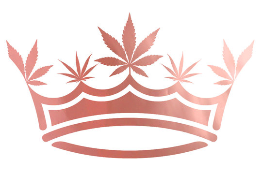Pink Metallic Marijuana Leaf Crown