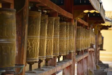 Buddhist Temple Prayer Wheels