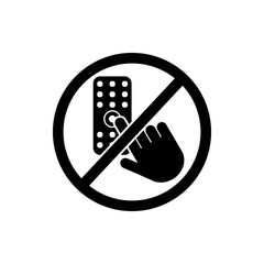 do not touch, remote icon. Element of prohibition sign icon. Premium quality graphic design icon. Signs and symbols collection icon